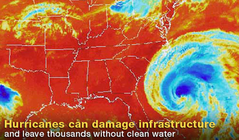 Hurricanes can damage infrastructure