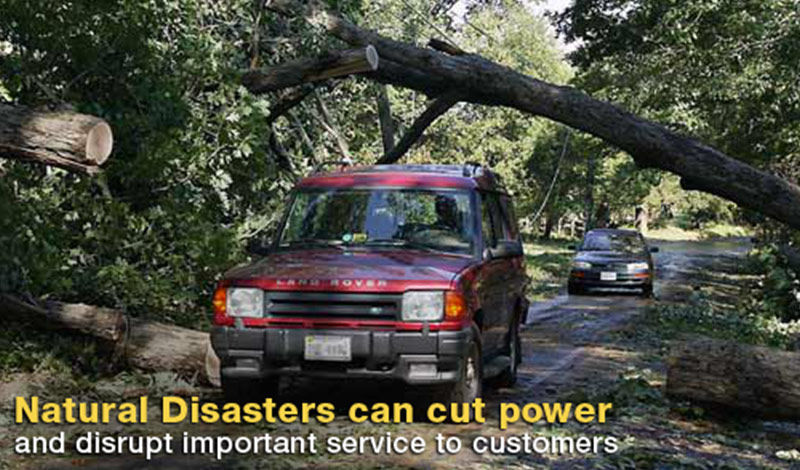 Natural Disasters can cut power